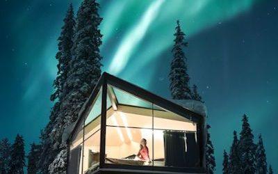 voyage sejour finlande laponie 2020 2021 2022 hotel igloo de verre glass igloo observation aurores boreales scandinavie suede norvege
